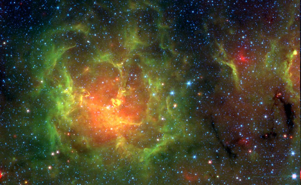 La nébuleuse Trifide dans l'infrarouge