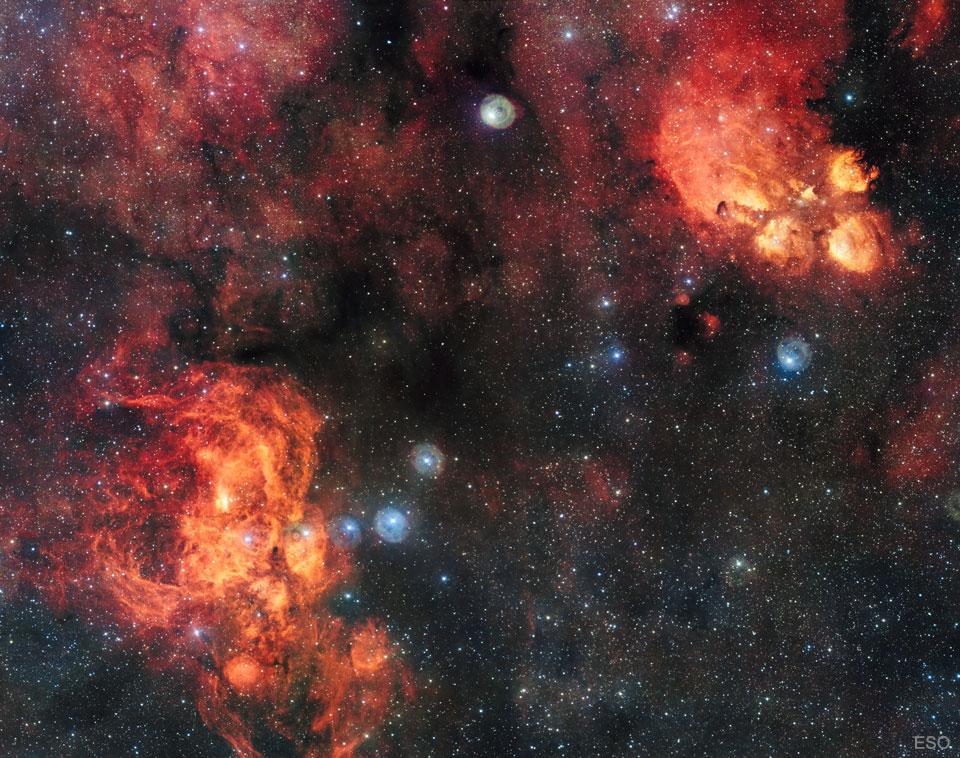 NGC 6357 : la nébuleuse du Homard