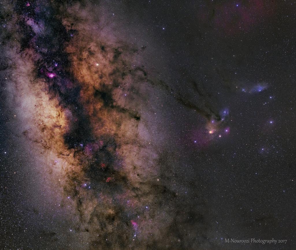 Saturne dans la Voie Lactée