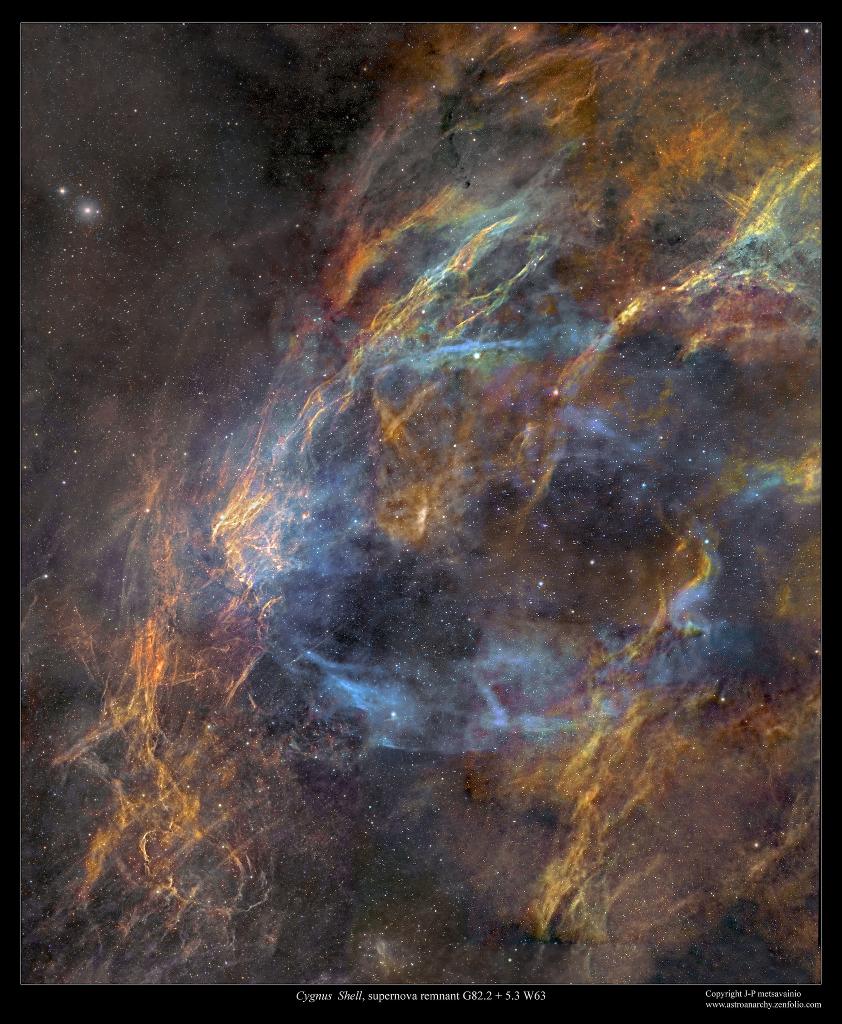 La coquille du rémanent de la supernova W63