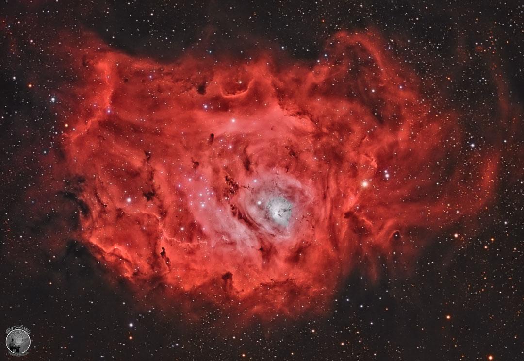 La nébuleuse de la Lagune : ses étoiles, gaz et poussières