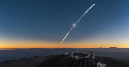 Séquences de l'éclipse à La Silla