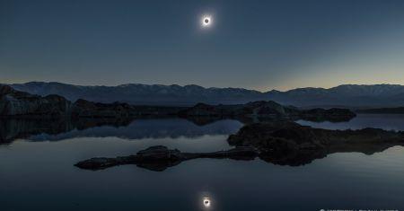 Le reflet d'une éclipse totale de soleil