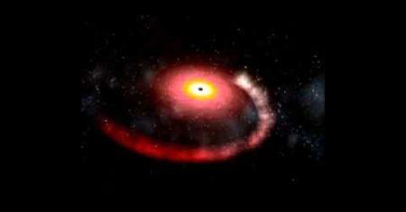 Détection présumée d'une étoile à neutrons détruite par un trou noir