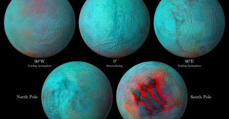 Encelade en infrarouge