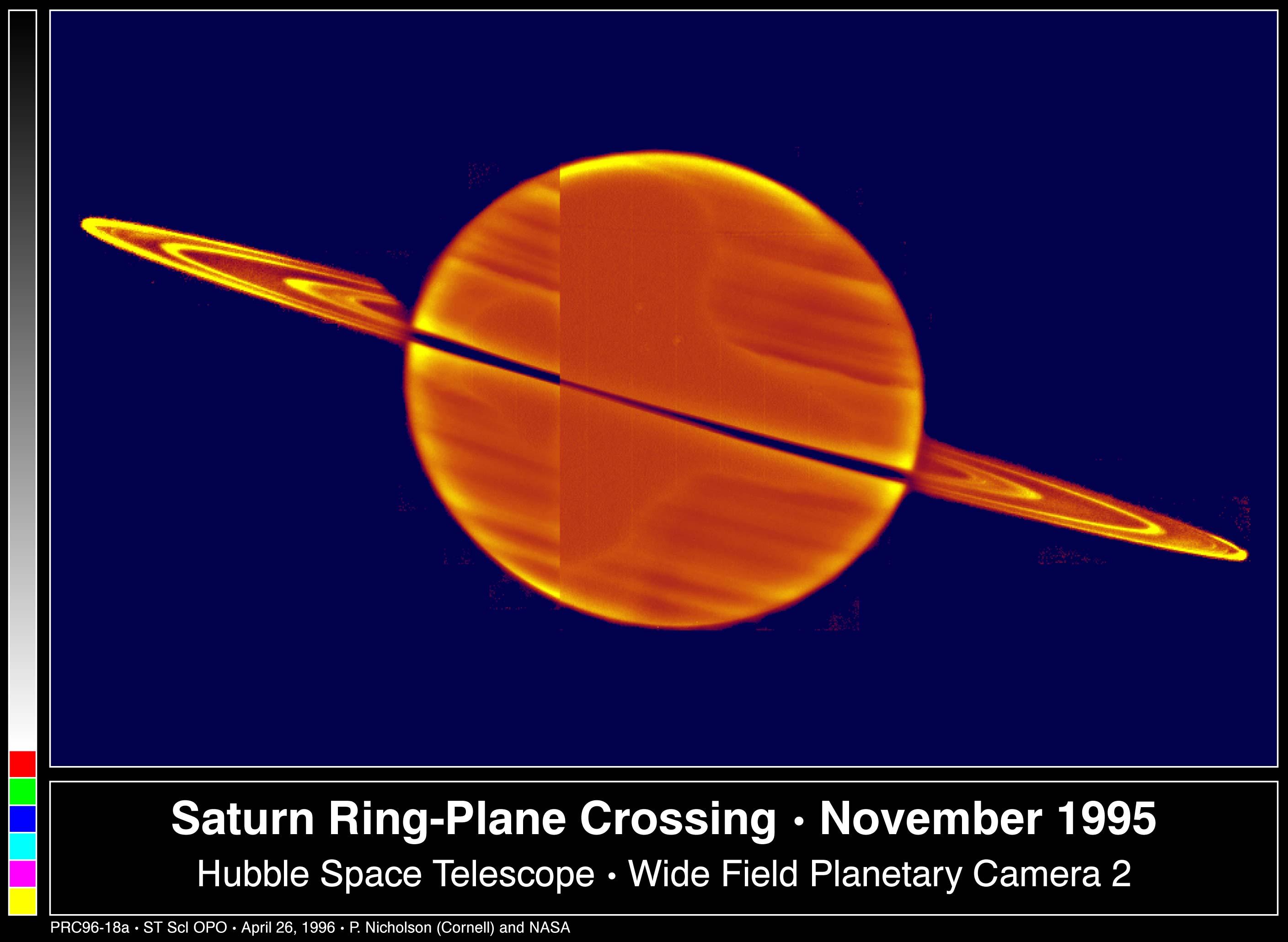Le Soleil à travers les anneaux de Saturne