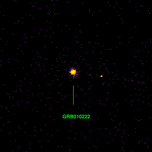 GRB010222 : sursaut gamma, persistance X