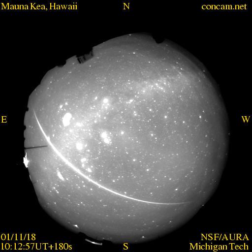 Un bolide de la pluie d\'étoiles filantes des Léonides de 2001