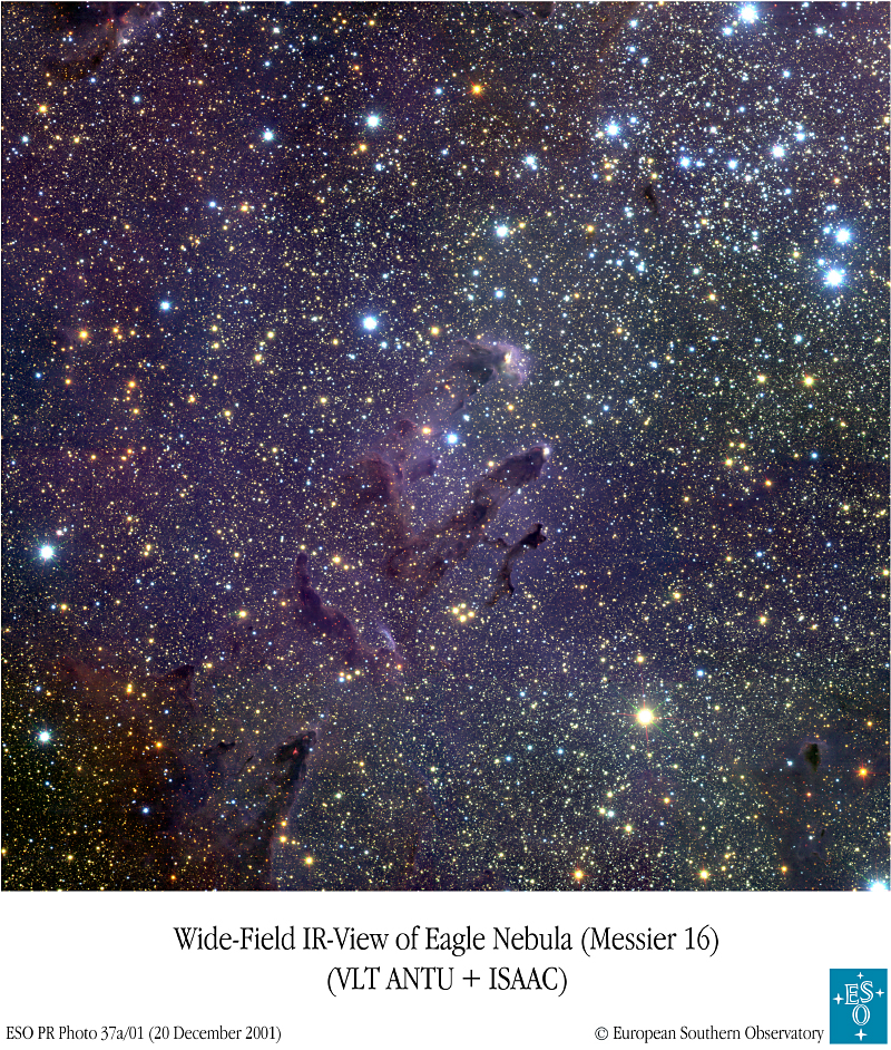 M 16 : étoiles, piliers et oeufs d\'Aigle