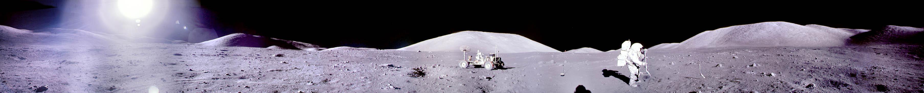 Un panorama d\'Apollo17