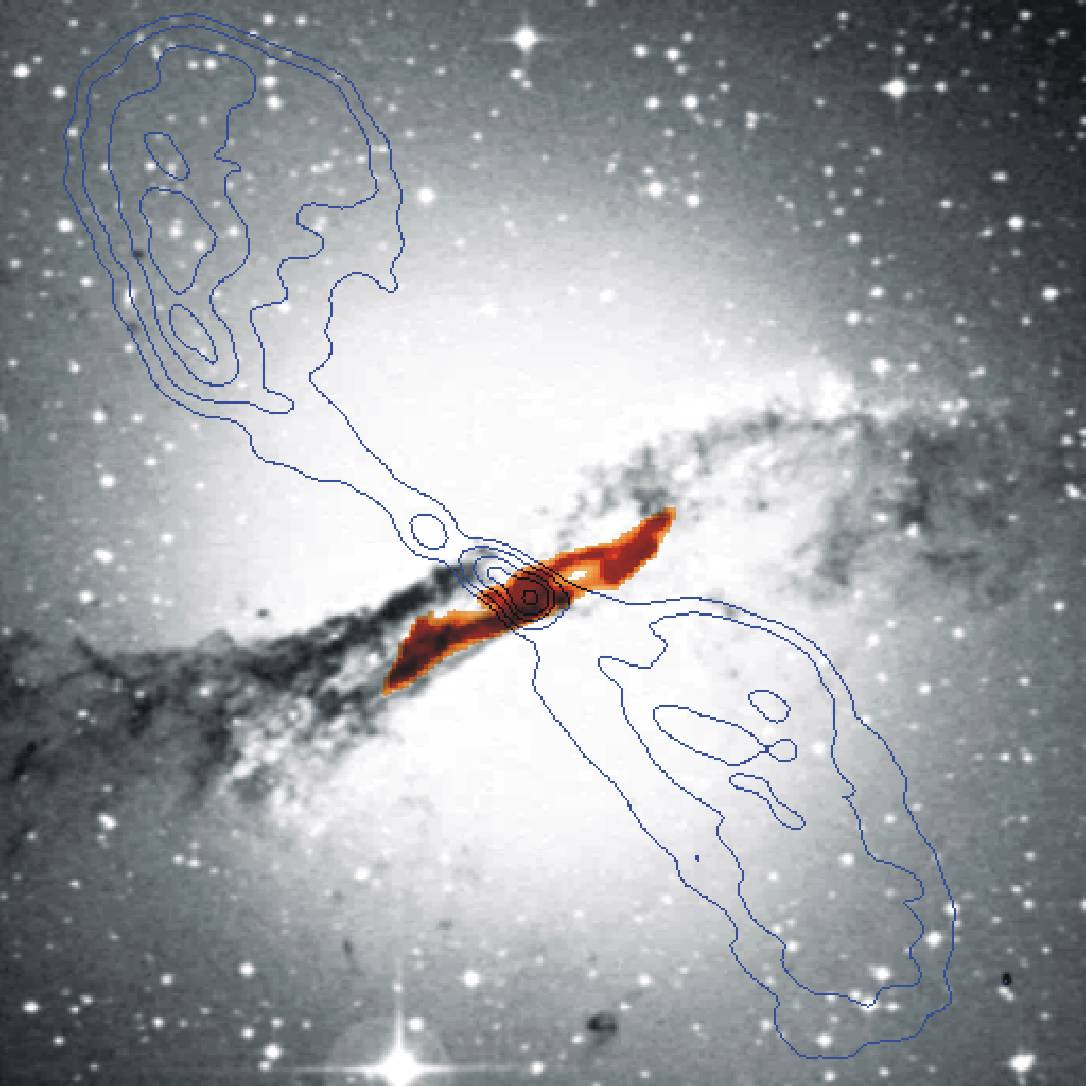 Centaurus A : au plus profond de la galaxie