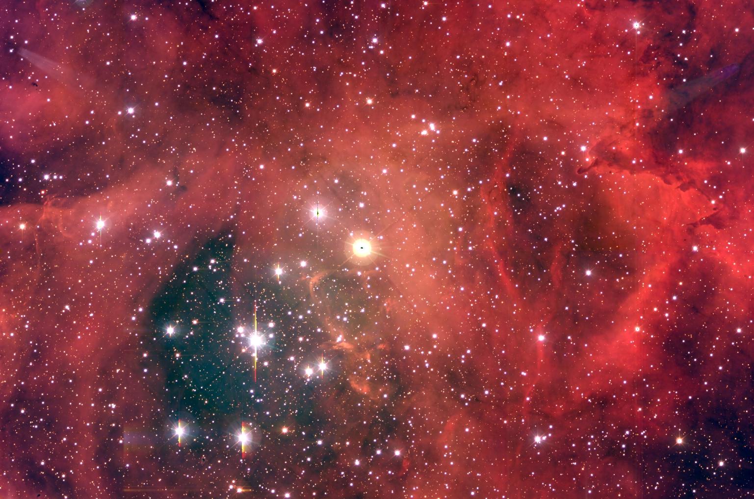 NGC2244: un amas d\'étoiles dans la Nébuleuse de la Rosette