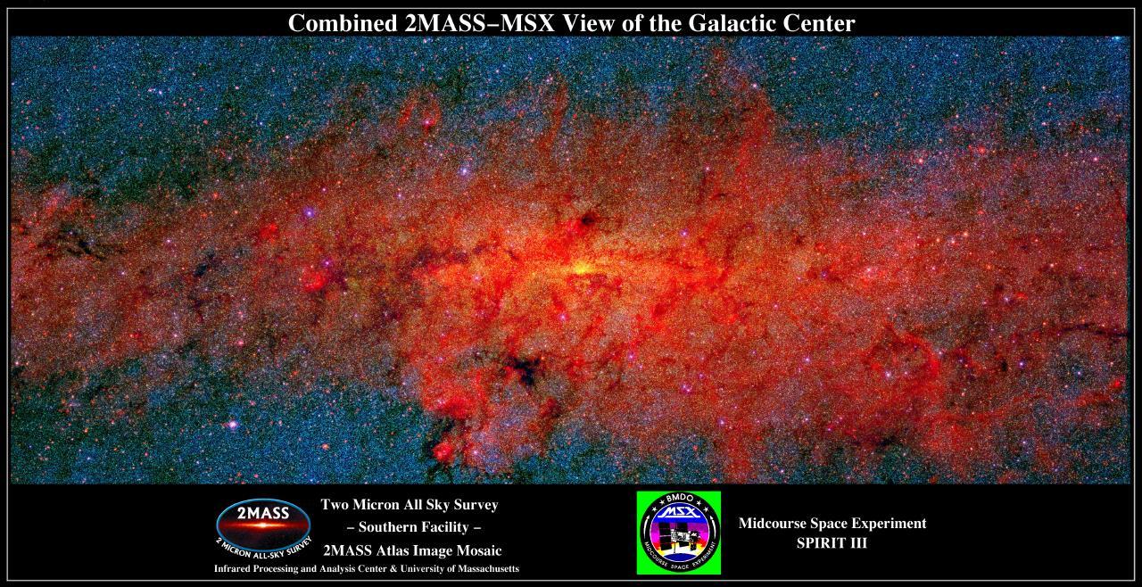 Le centre galactique en infrarouge