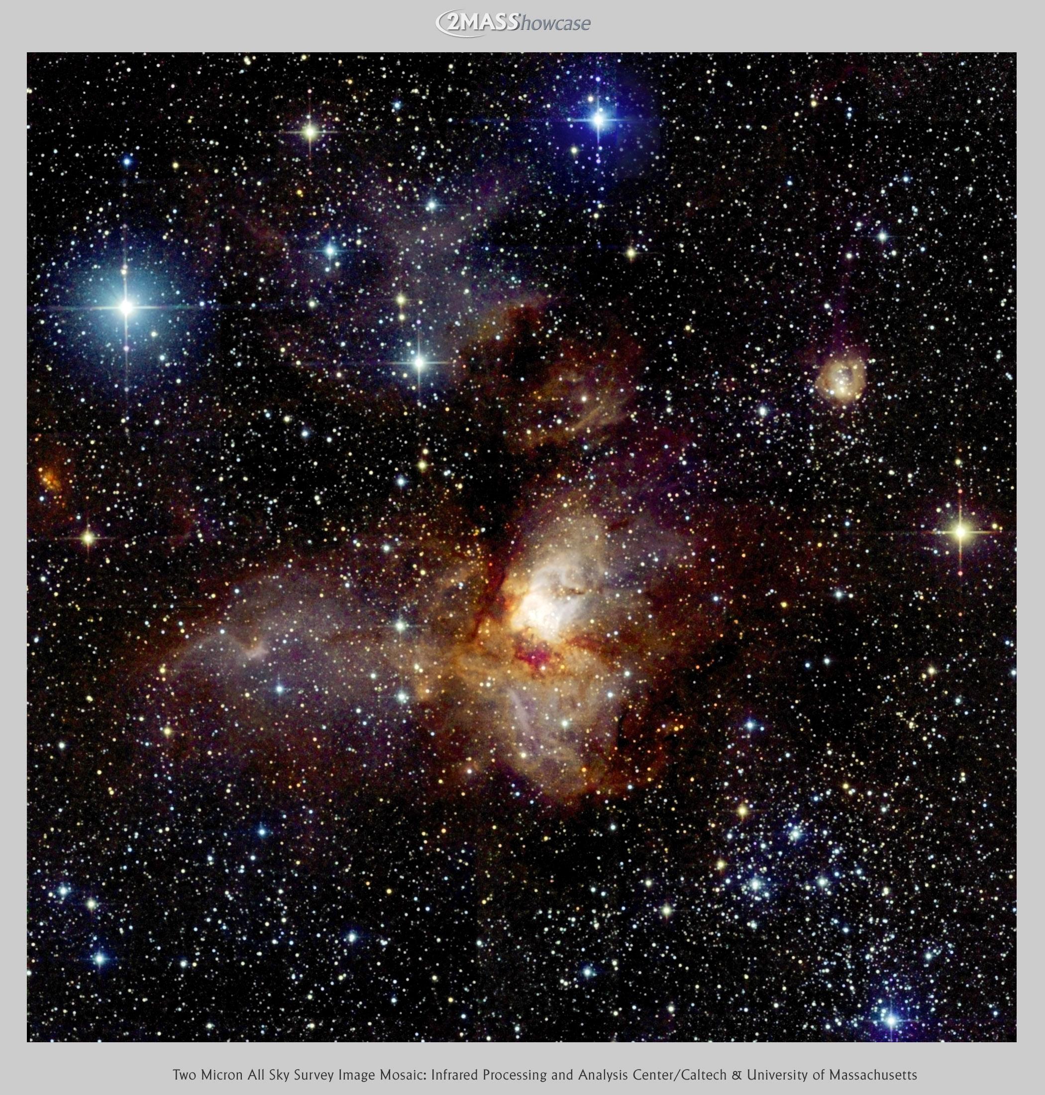 La région de formation d\'étoiles RCW38 par 2MASS