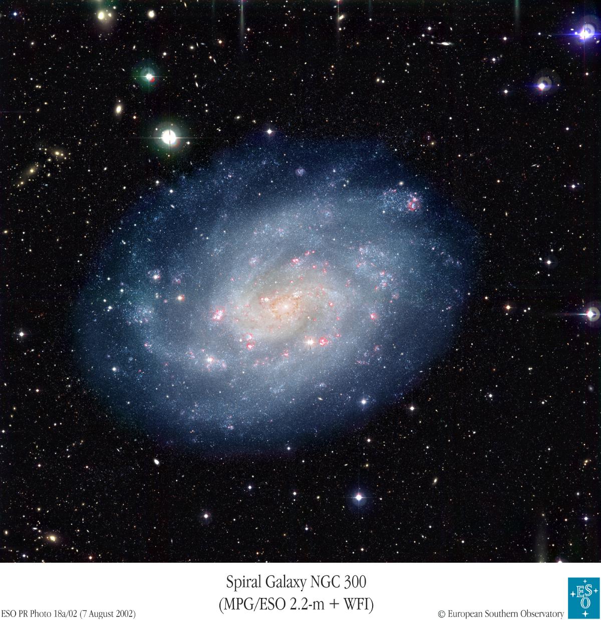 La galaxie spirale NGC300