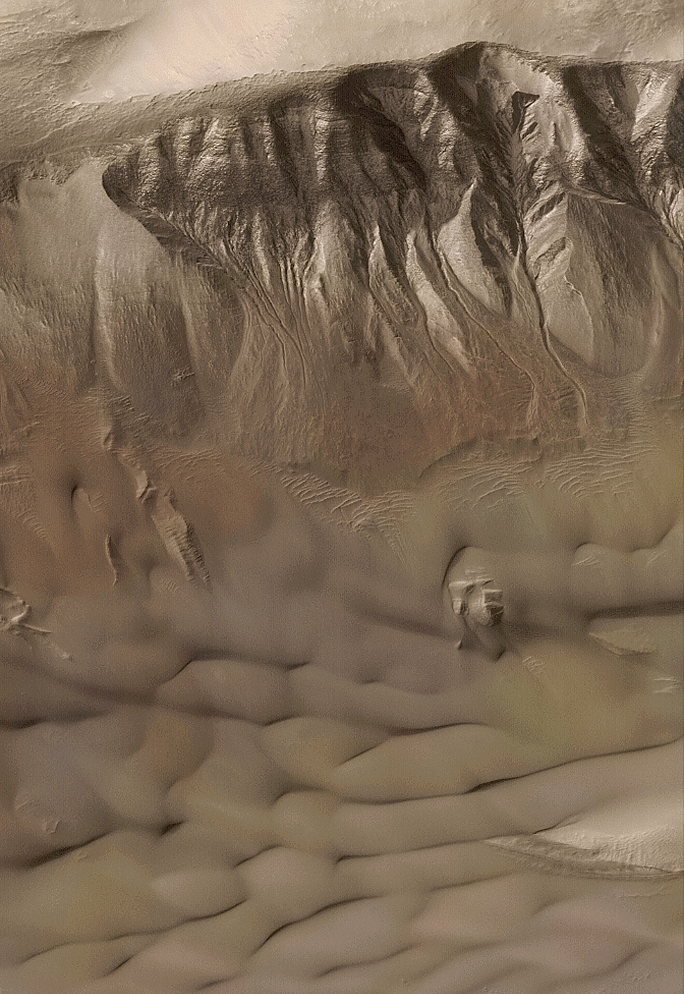 Des rigoles sur Mars