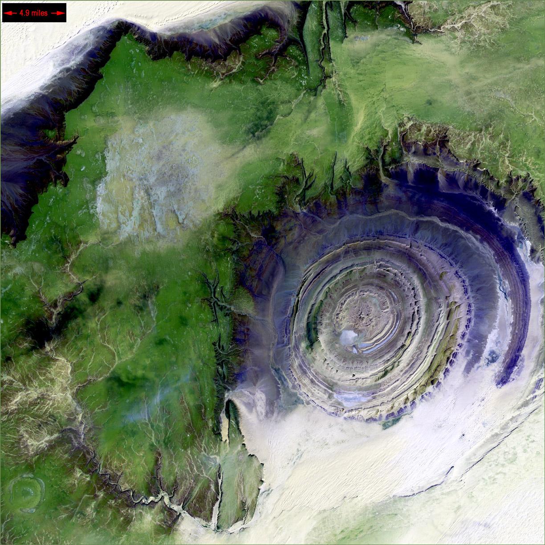 La structure de Richat sur Terre