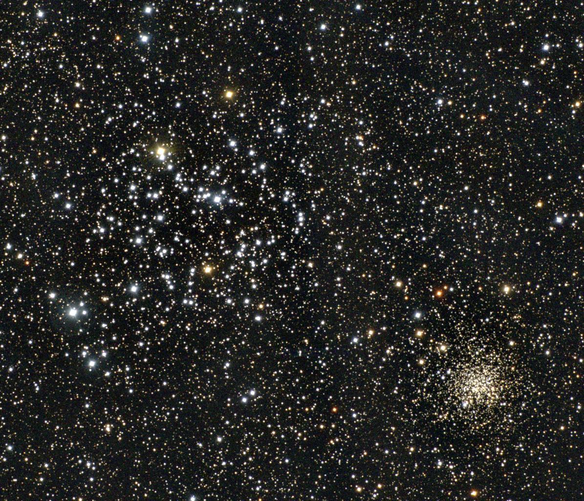Les amas ouverts M35 et NGC2158