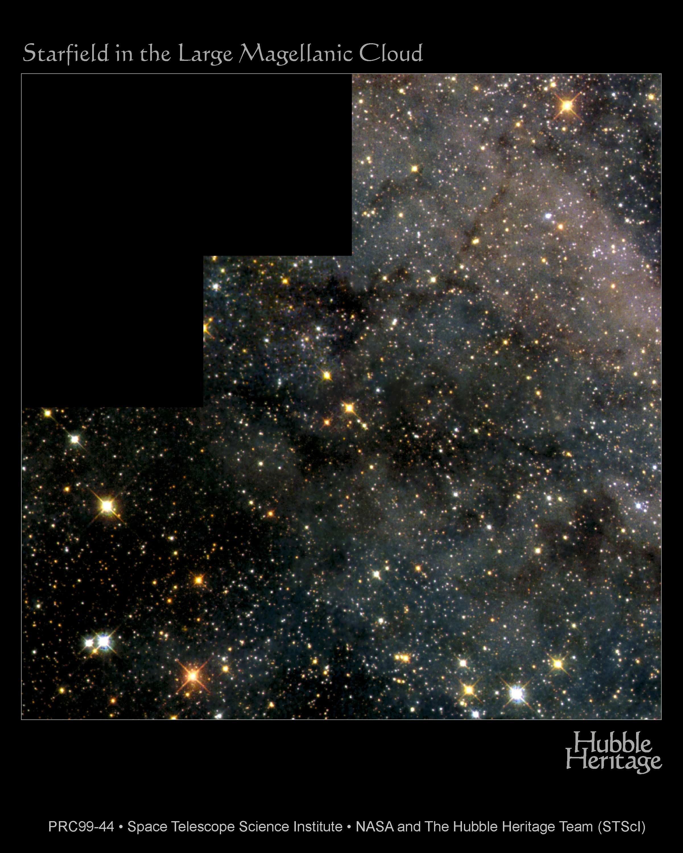 Un champ d\'étoiles de Magellan