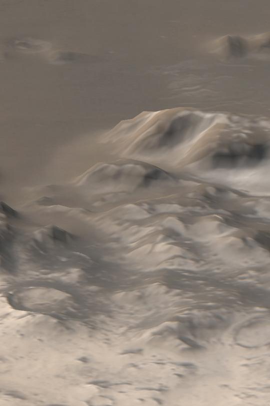 Les montagnes gelées de Mars