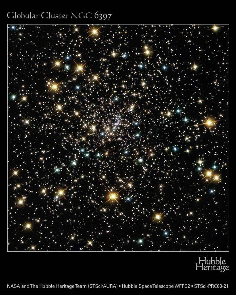 Traînardes bleues dans NGC6397
