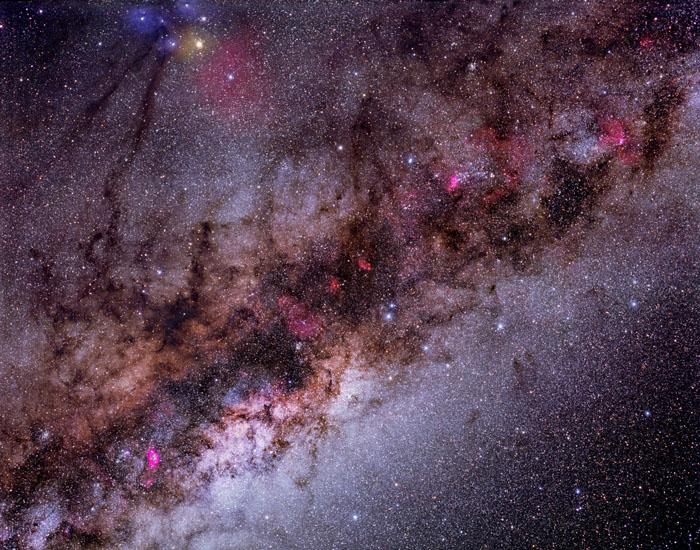 Notre Galaxie en étoiles, gaz et poussière