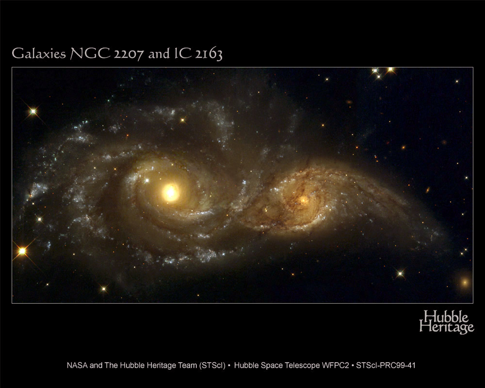 Galaxies spirales en collision