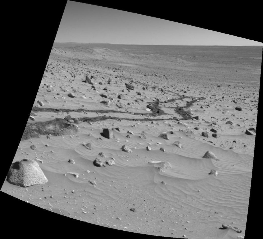 Coup d\'oeil derrière soi sur Mars