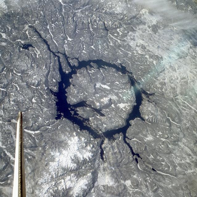 Le cratère d\'impact de Manicouagan