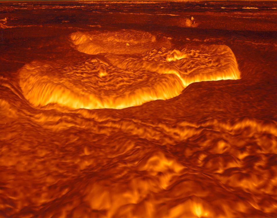 L\'ancienne surface fondue de Vénus