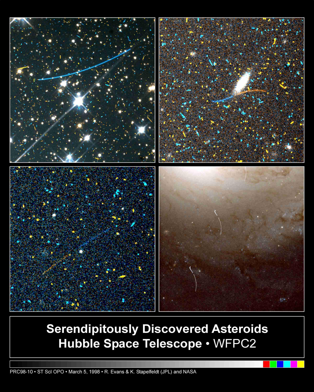 Des astéroïdes au lointain