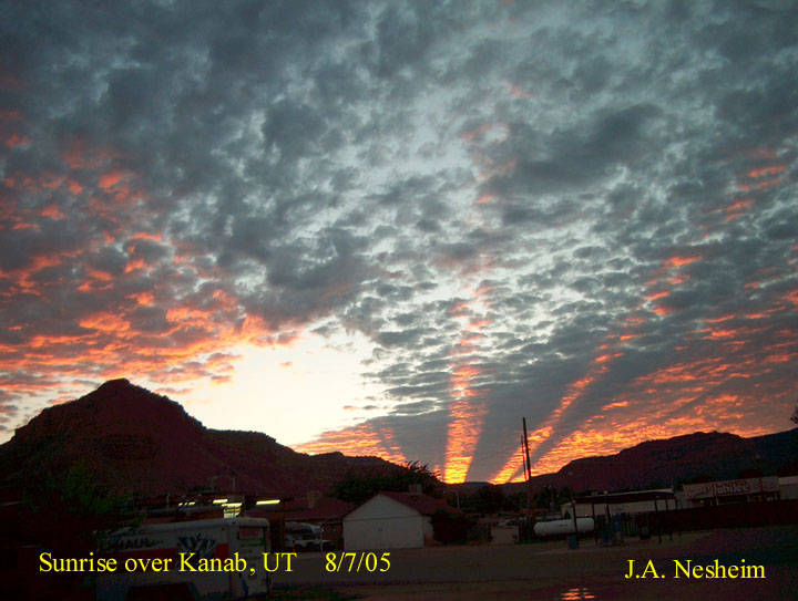 Rayons crépusculaires sur l\'Utah
