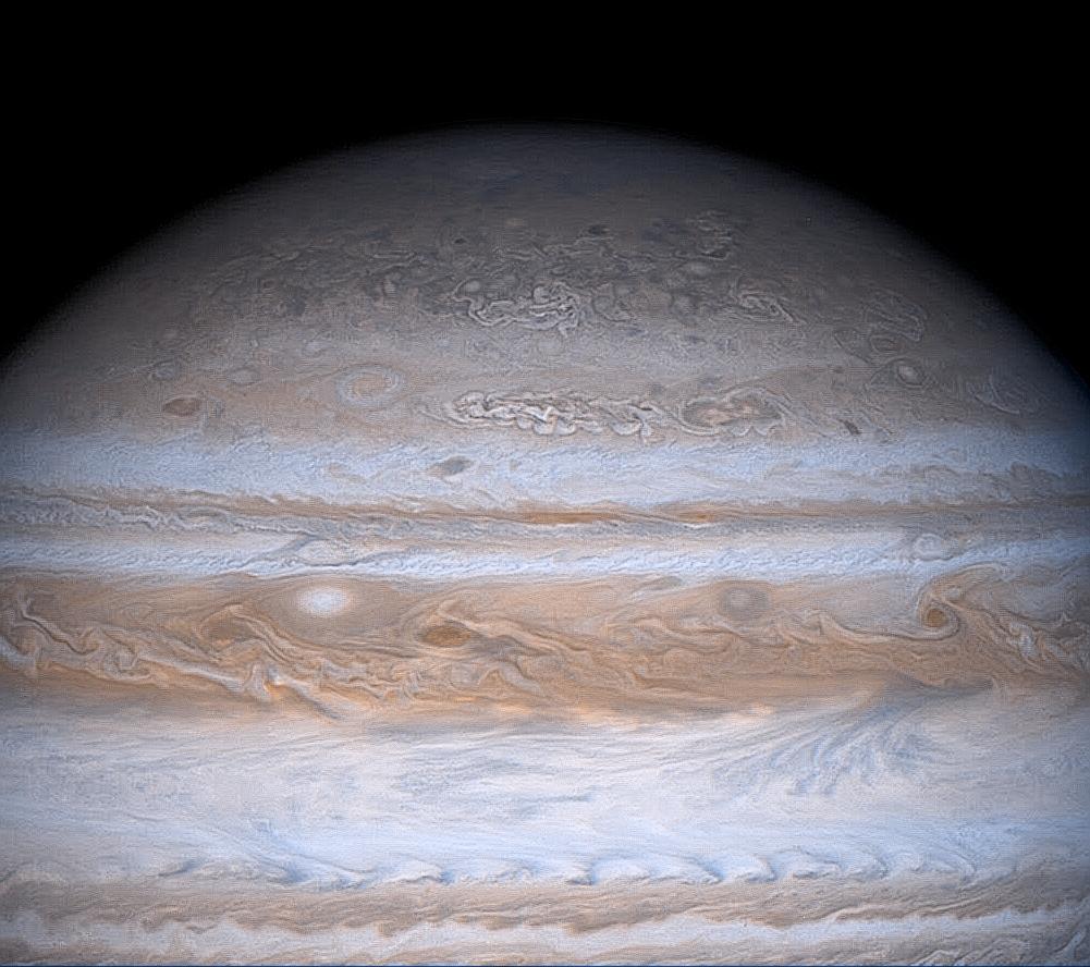 Les nuages de Jupiter par Cassini