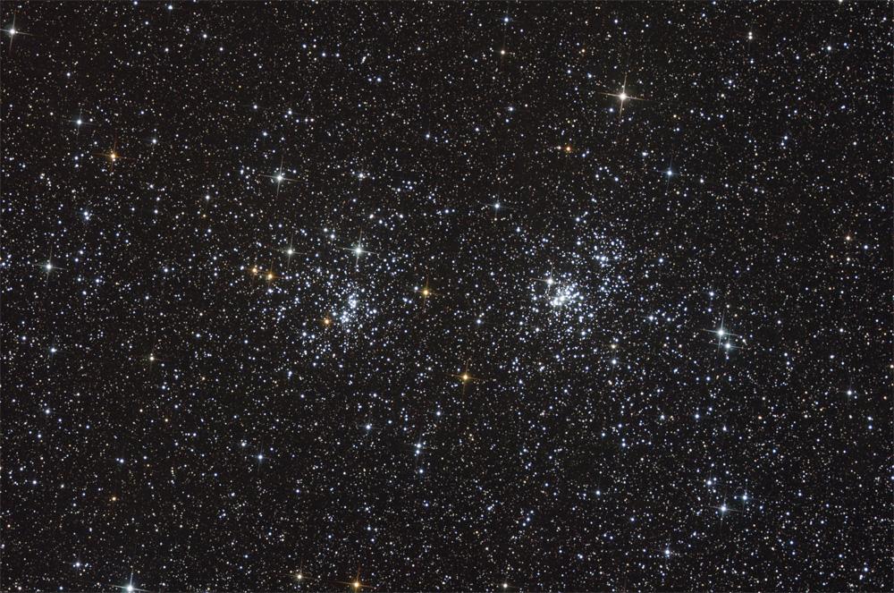 NGC 869 & NGC 884: un double amas ouvert