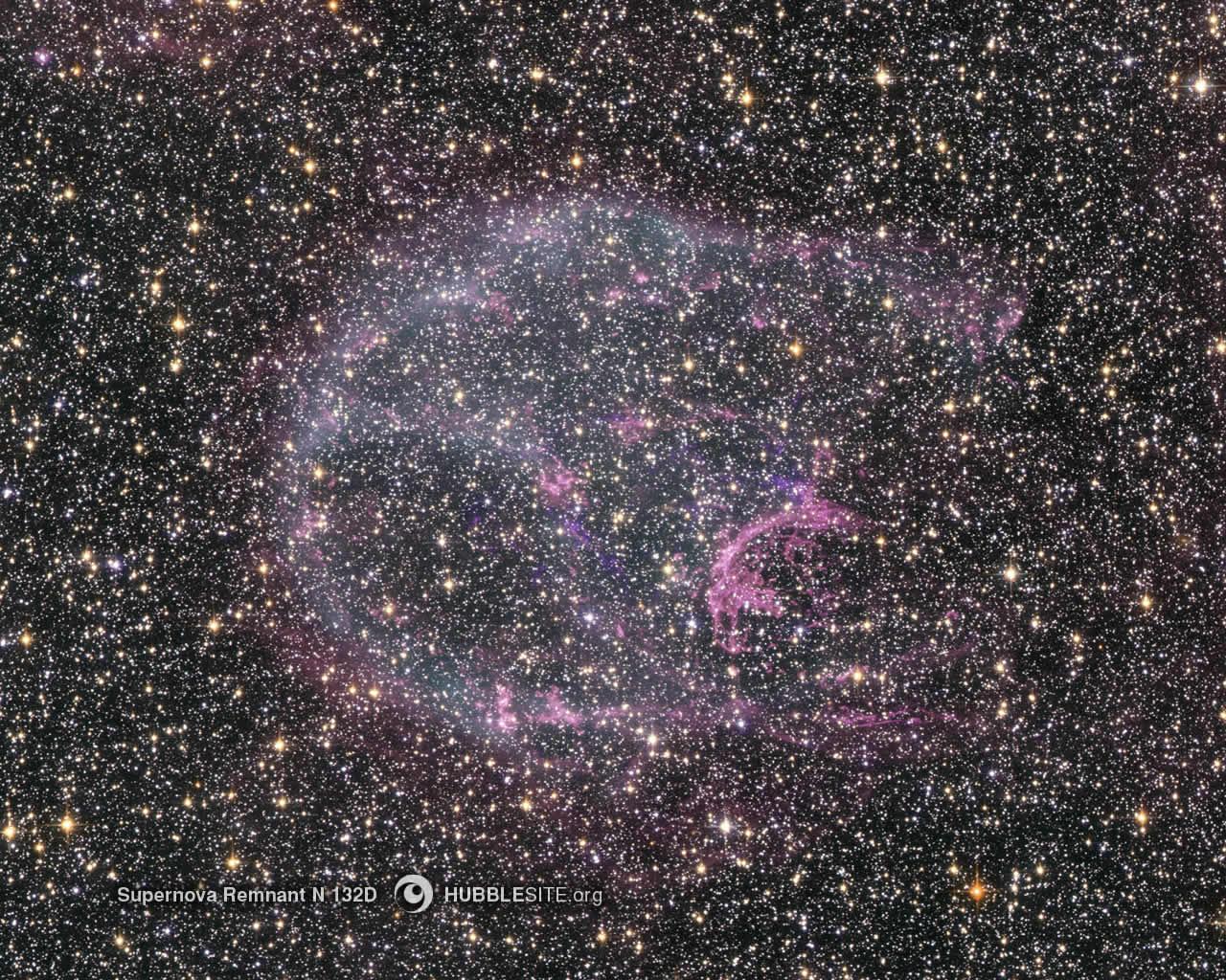 Rémanant de supernova N132D en optique et rayons-X