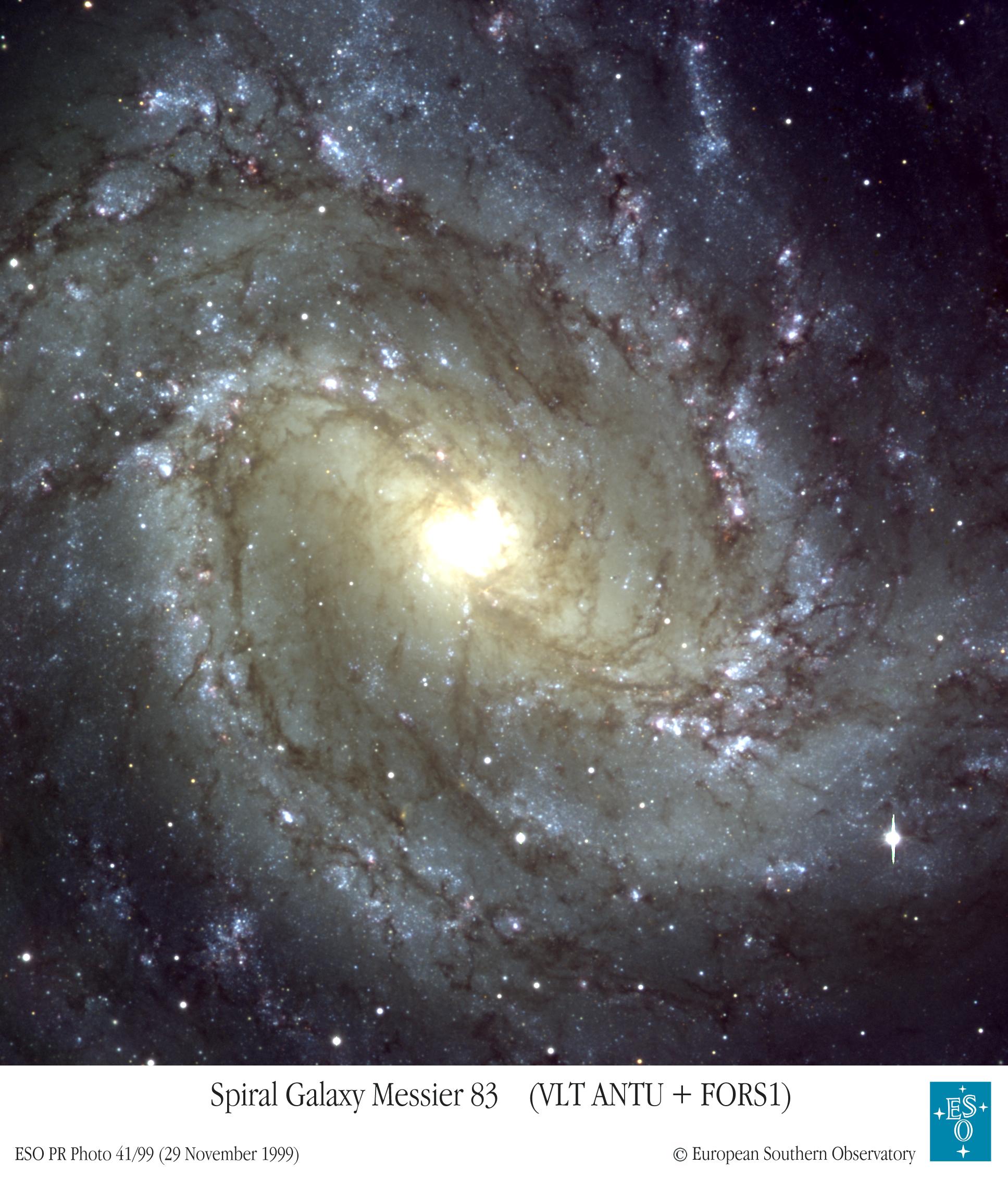 M83 vue par le VLT
