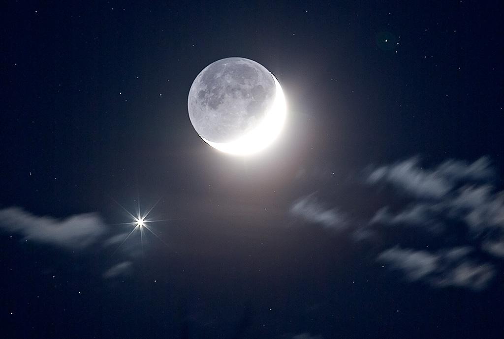 Vénus près de la Lune