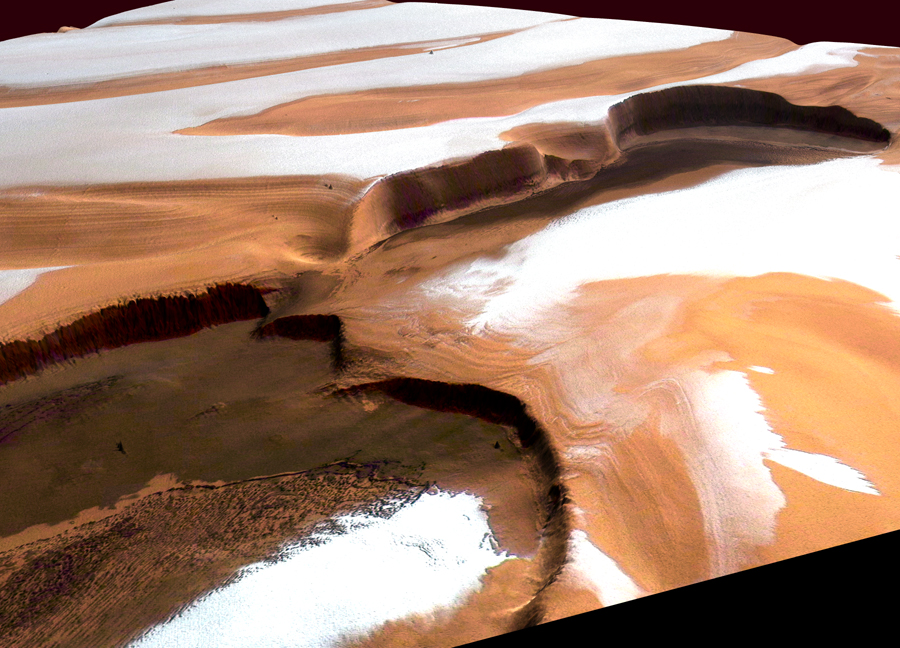 Abruptes falaises sur Mars