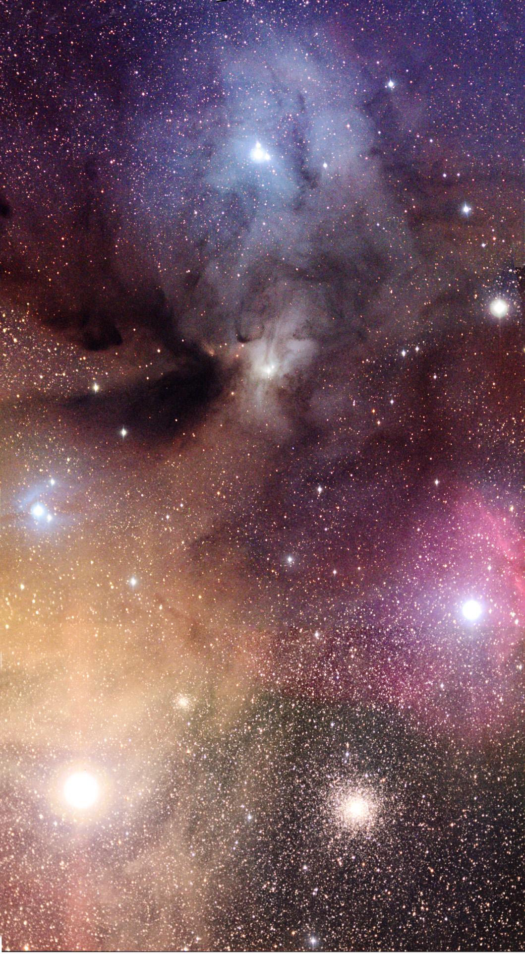 Les nuages colorés de Rho Ophiuchi
