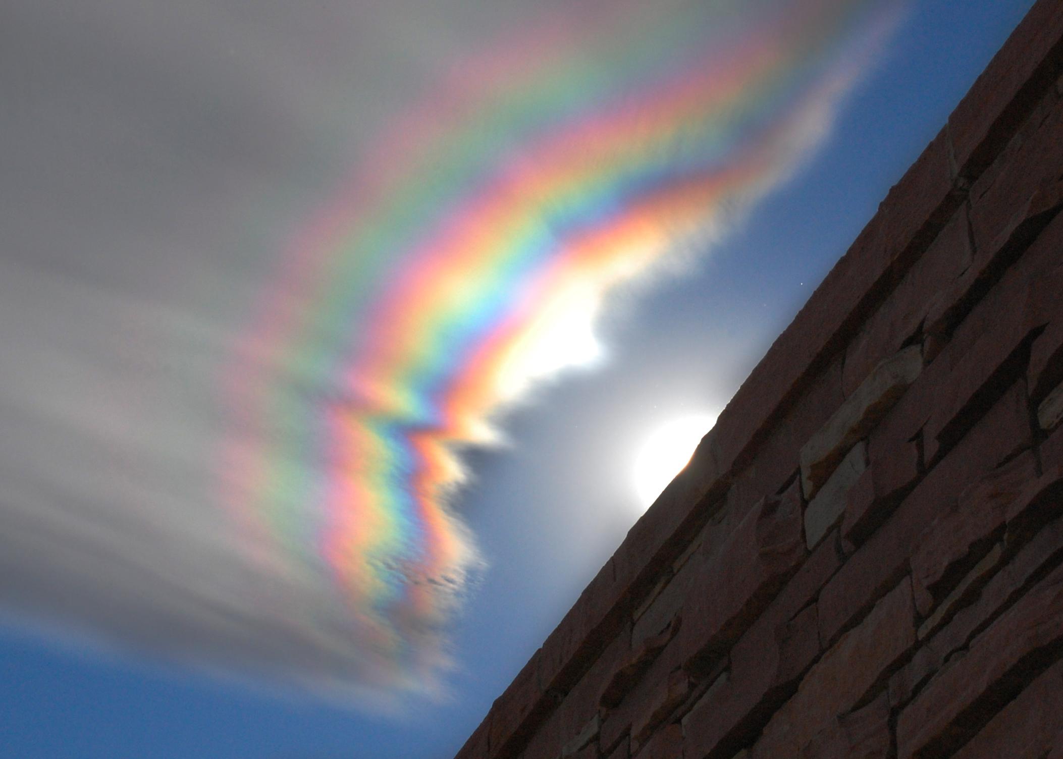 Nuage irisé au-dessus du Colorado