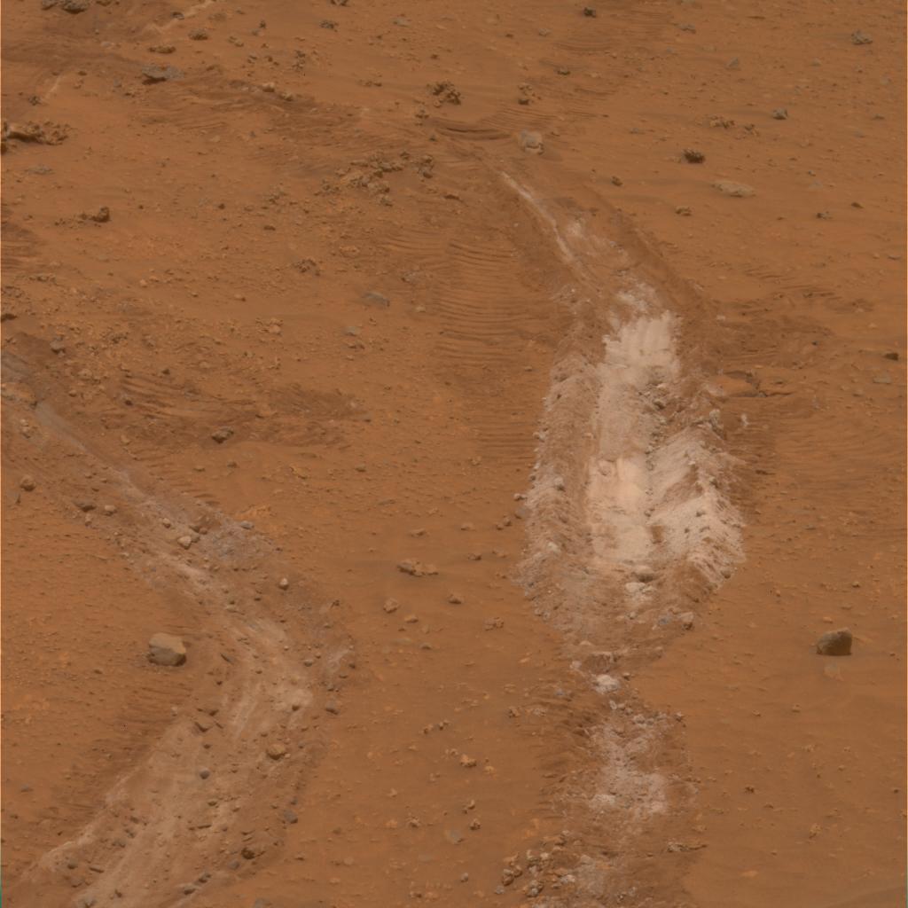 Découverte d'un sol inhabituellement riche en silice sur Mars