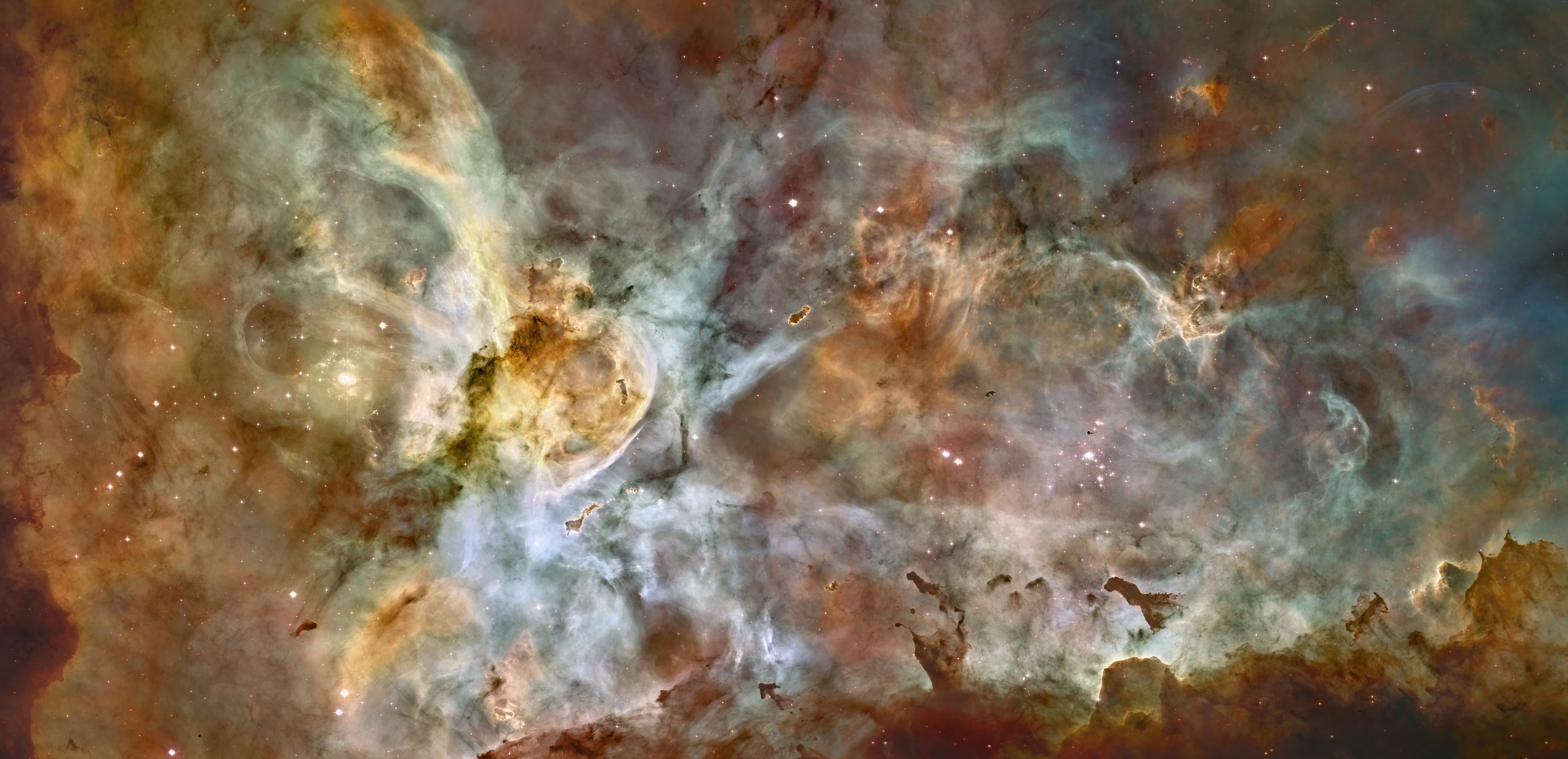 Panorama de la nébuleuse de la Carène par Hubble