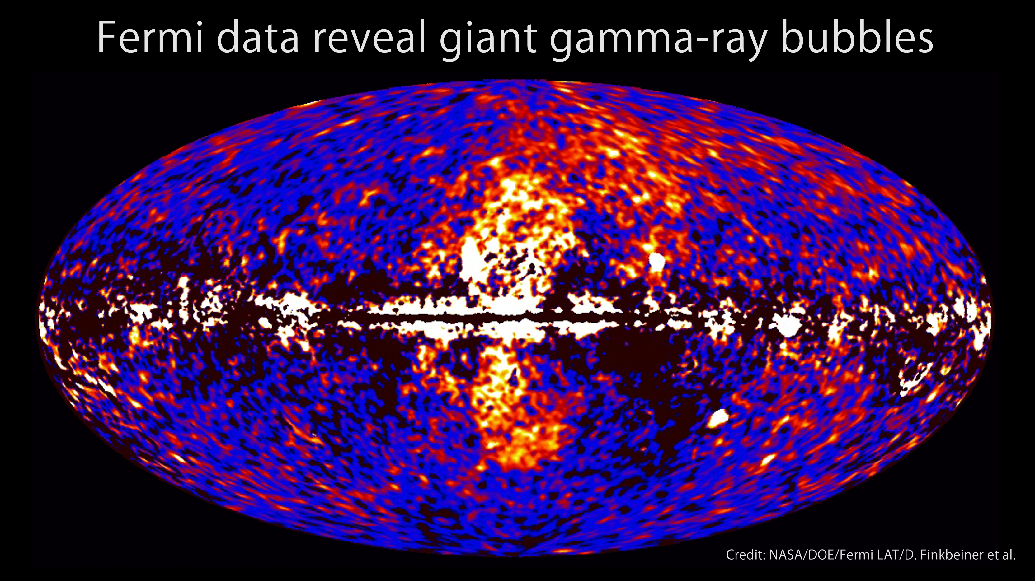 Gigantesques bulles de rayons gamma dans la direction du centre galactique