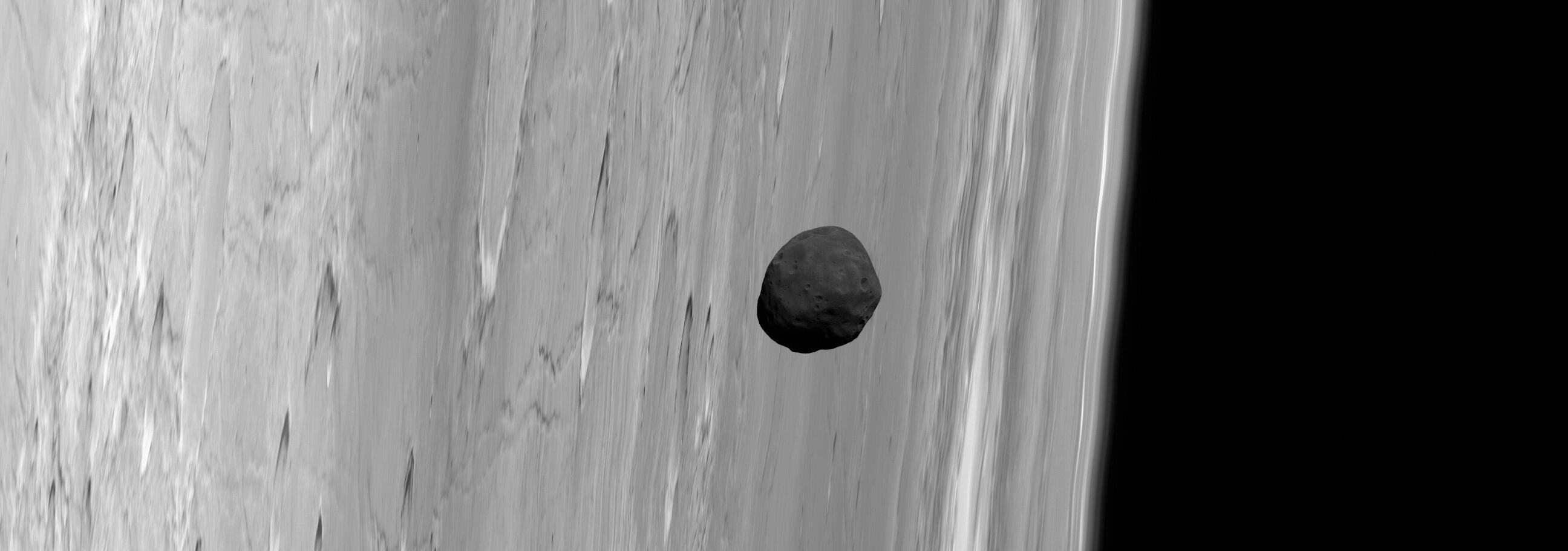 La lune martienne Phobos vue par Mars Express