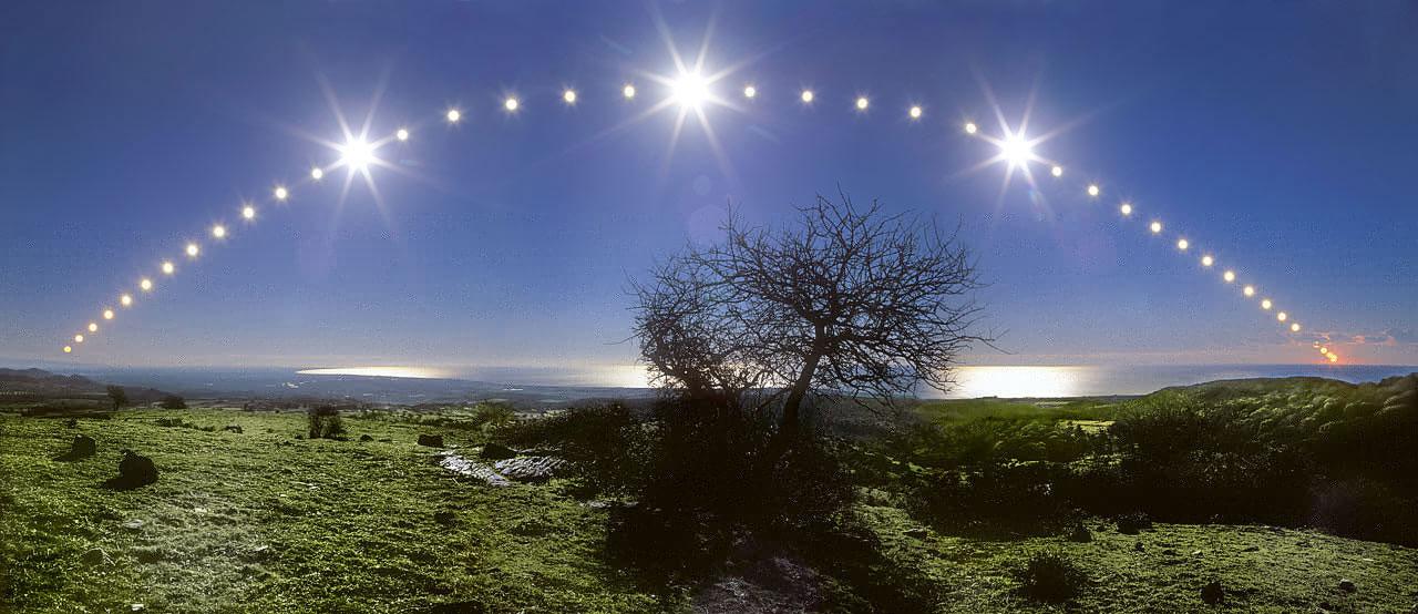 Ciel de solstice sur la mer Tyrrhénienne