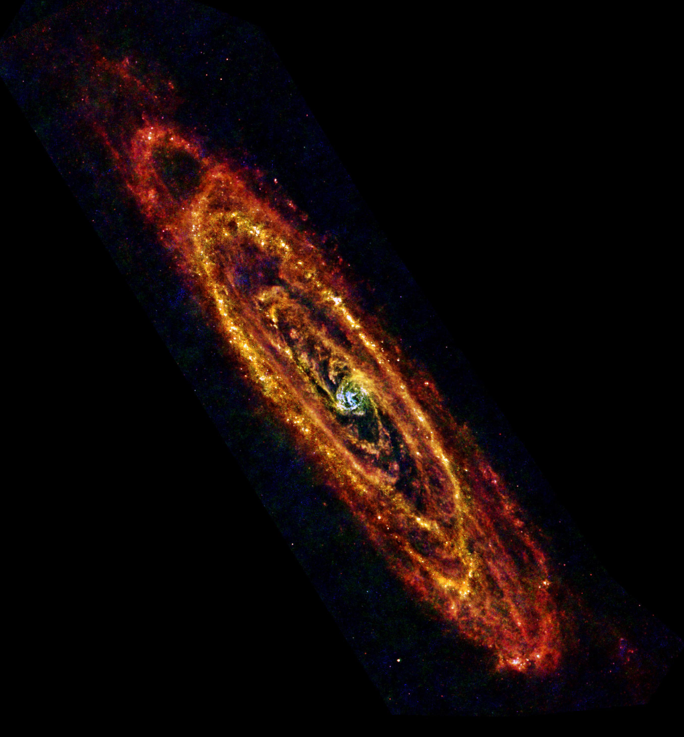Andromède vue par Herschel