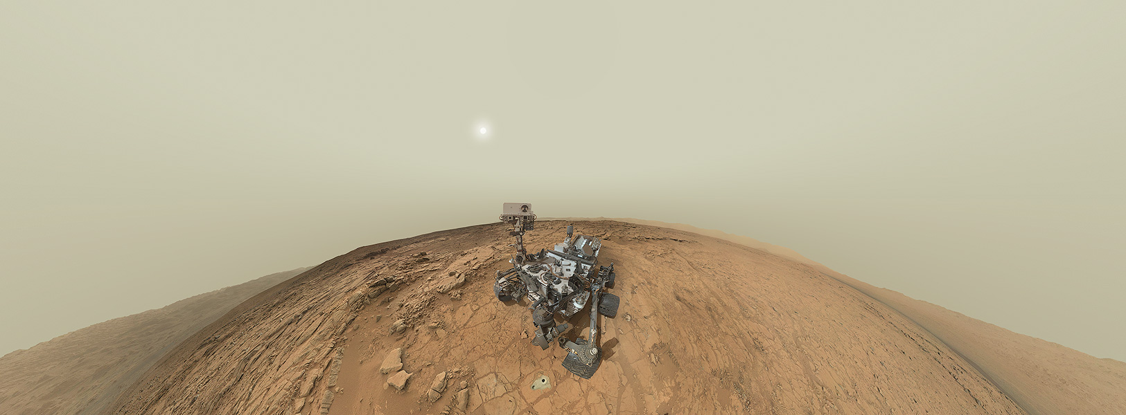 Autoportrait panoramique de Curiosity
