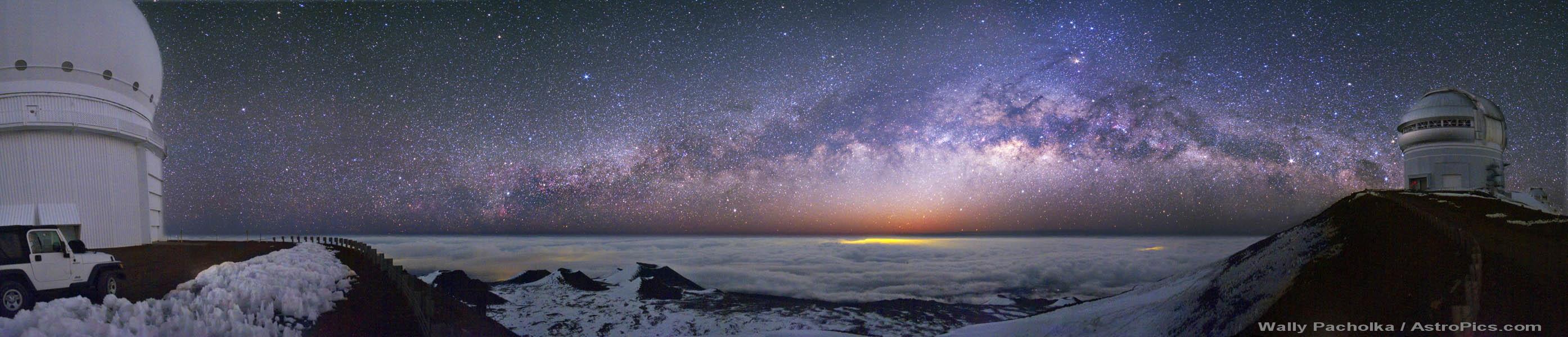 La Voie lactée depuis le Mauna Kea