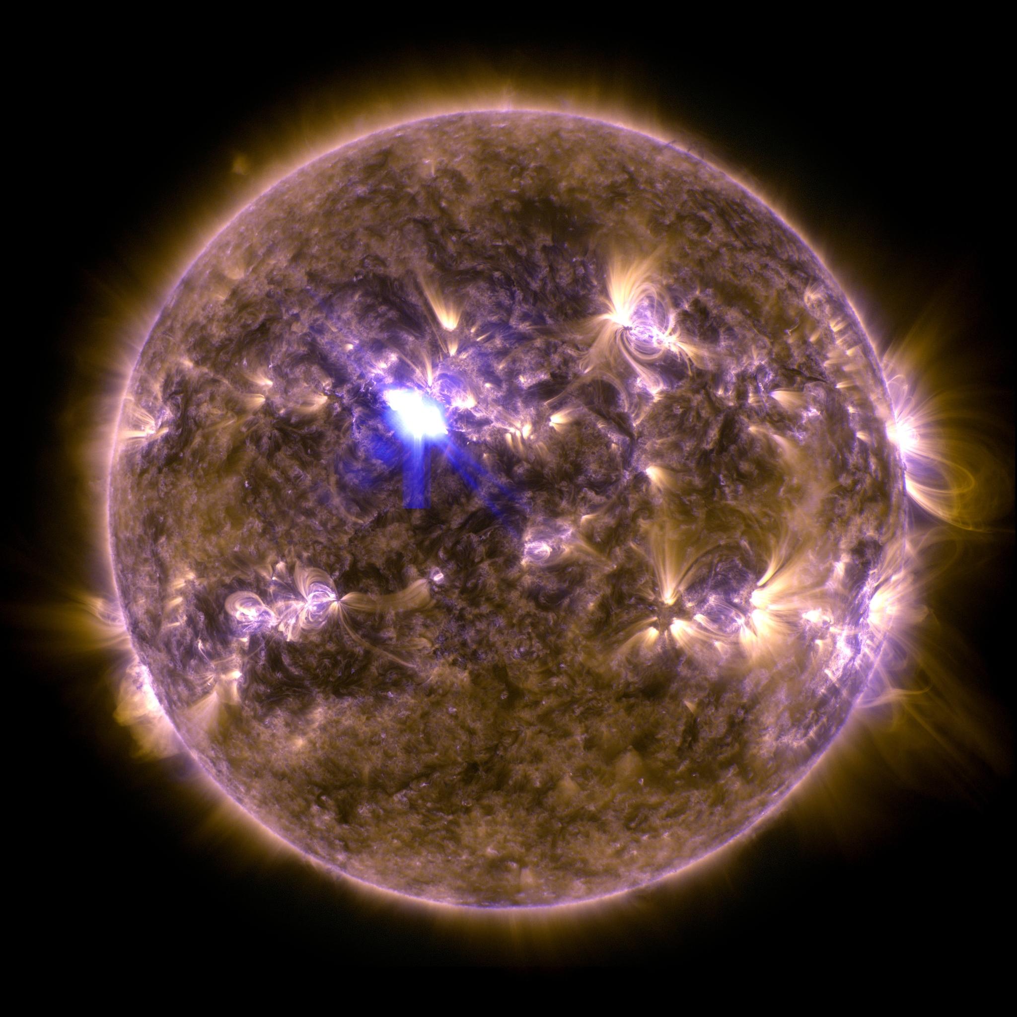 Plus forte éruption solaire de l\'année