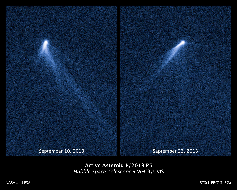 Les surprenantes queues de l\'astéroïde P5